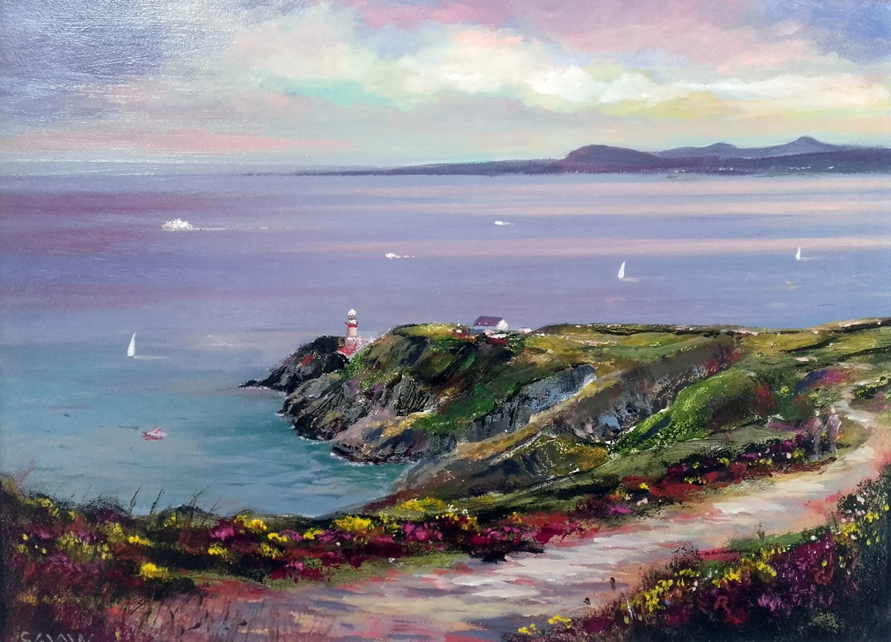 April Evening at Howth Cliff Path - Robert Shaw