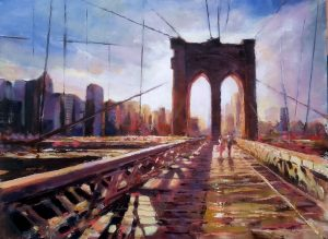 Moment on Brooklyn Bridge - Robert Shaw